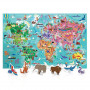 World Tour Puzzle Gigante del Mondo Headu 20898