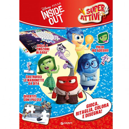 "Libro ""Super Attivi"" Inside Out da Ritagliare e Colorare"