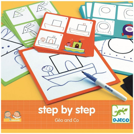 Disegno Guidato Step By Step Djeco DJ08322