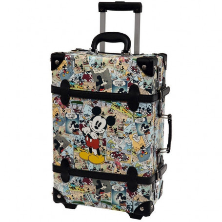 Valigia Trolley Rigido ABS Mickey Mouse Comics Vintage