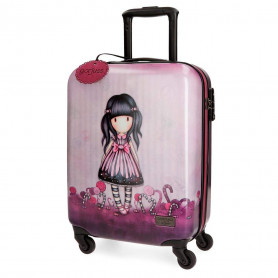 Valigia Trolley Gorjuss in ABS Rigido 55 cm - Viola Sugar and Spice