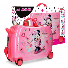 Valigia Cavalcabile Minnie Stickers in ABS 50 cm