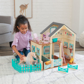 Playset Scuderia dei Cavalli in Legno Sweet Meadow KidKraft 63534