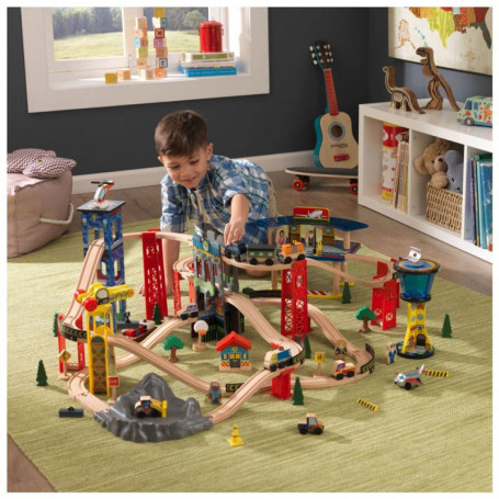 Set Treno in Legno Super Highway - Kidkraft 17809