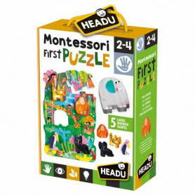 Gioco Montessori First Puzzle The Jungle Headu 22380